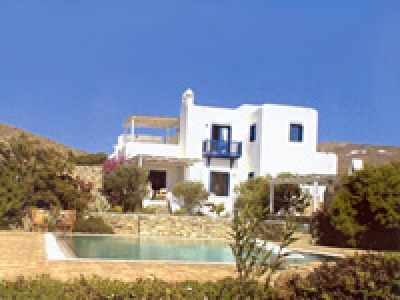 Mykonos: furnished villa with swimming pool